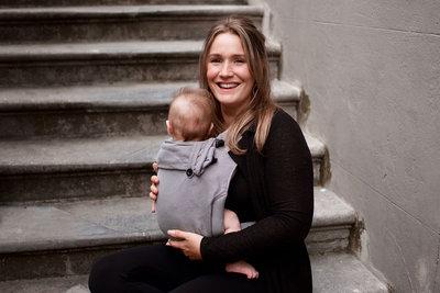 Babytrage Wrap & Go -  Dunkelgrau